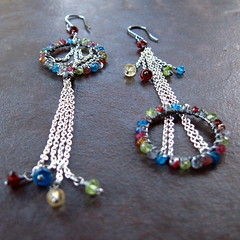 (meristem) Tags: wire wrapped jewelry earrings meristem
