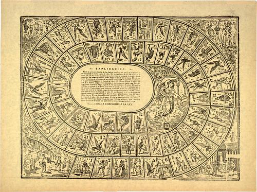 JosA� Guadalupe Posada: Juego de la oca, ca. 1900 por trialsanderrors.