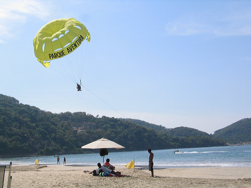 Paragliding on the Beach, Mexico