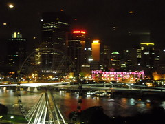 Looking over Brisbane's South Bank