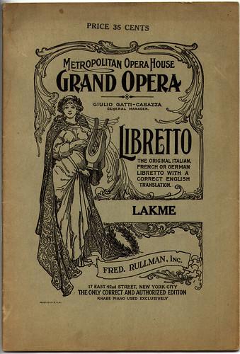 opera libretto