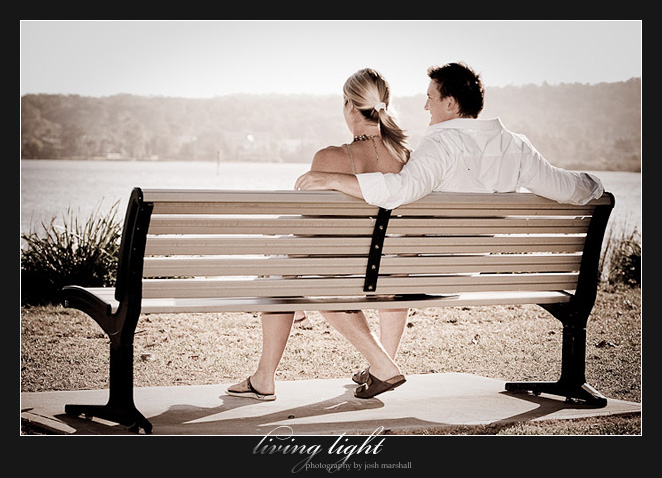 Sitting for a moment. Engagement session at Speers Point, Lake Macquarie, Newcastle.