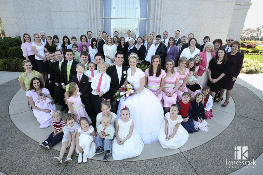 Brandon and Tiani's wedding at the Folsom LDS Temple by Folsom Wedding photographer, Teresa K