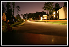 VA Light Trail (Teddy Waffles) Tags: light car digital canon eos rebel virginia long streak time corey shutter lapse 35mmslr xti teddywachholz coreynunn
