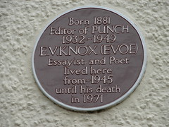 Photo of E.V. Knox brown plaque