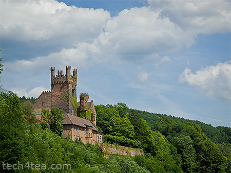 One of four castles in Neckarsteinach, taken with an Olympus E5