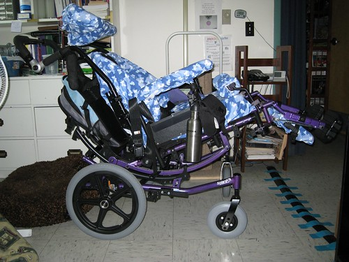 My manual wheelchair from the side.