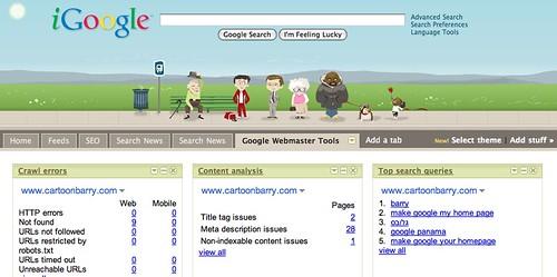 Google Gadgets for Webmaster Tools