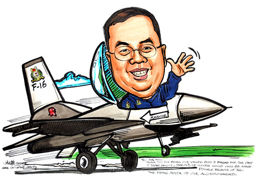 Caricature Singapore Air Force 020308
