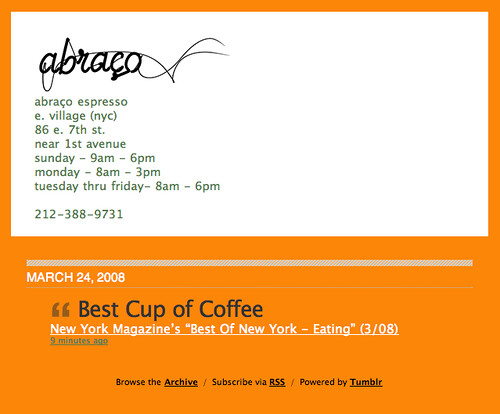 Abraço Espresso — Best Cup of Coffee in New York