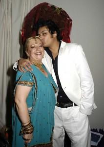 Angie Davidson with singer Raghav