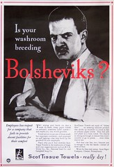 Is your washroom breeding Bolsheviks? (Will S.) Tags: mypics redmenace vintageads anticommunism  scottissuetowels