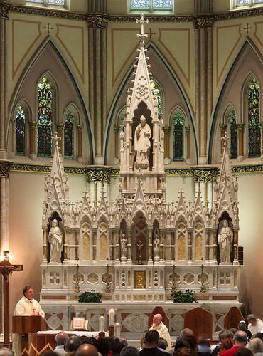 Saint Alphonsus Liguori Roman Catholic Church, in Saint Louis, Missouri, USA - high altar