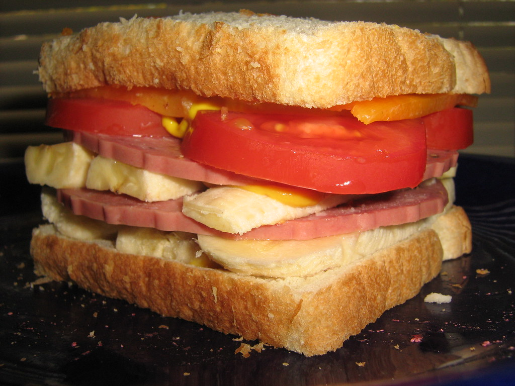 Today's Banana & Salami Sandwich IMG 8341