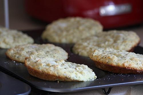 Lemon poppyseed muffin tops.