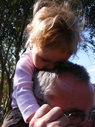 Sitting on Grandad's shoulders