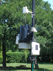 How high should a home weather station be placed