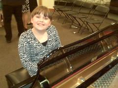 Miss M at recital
