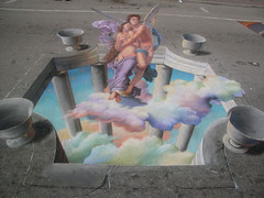 3D Street Painting - Cupid & Psyche by Tracy Lee Stum
