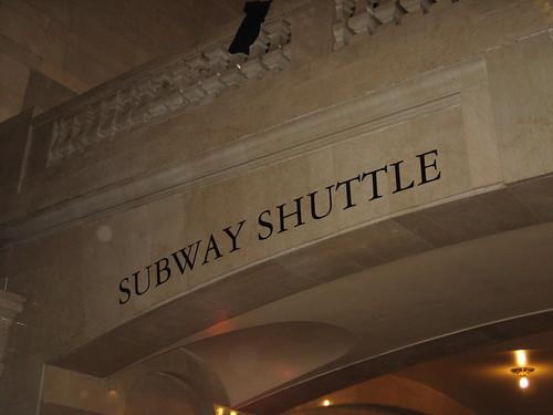 Shuttle sign at GCS