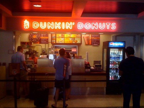 There are sooo many Dunkin Donuts in New England. This one was located in the restroom of another Dunkin Donuts.