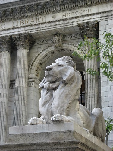Fortitude, the stone lion outside the New York Public Library.