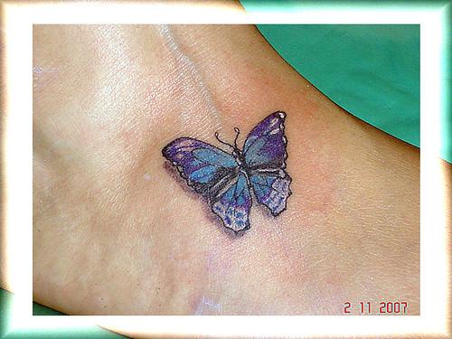 tatuagem borboleta no pe2 by