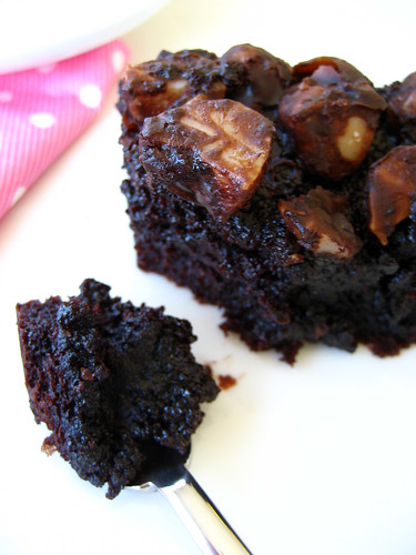 Luxurious Chocolate Brownies with Macadamia Nuts ~ 豪華巧克力布朗尼蛋糕