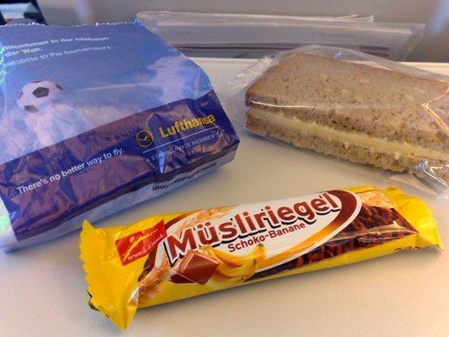 Cheese Sandwich and Muesliriegel