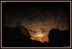 Asleep Life (Kinryuu_JFJ) Tags: life light red sky orange cloud moon house black france color tree home nature silhouette night clouds forest canon iso frame moonlight asleep 60 picardie oise