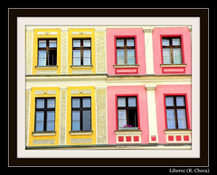 Liberec (Repblica Checa) (Sigurd66) Tags: pink windows window yellow ventana europa europe czech rosa ventanas amarillo czechrepublic checa republicacheca kraj eskrepublika fineartphotos libereck detallessculpturalandaechitecturaltreasures libereckkraj