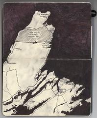 Cape Breton map (retro traveler) Tags: moleskine novascotia map journal capebreton