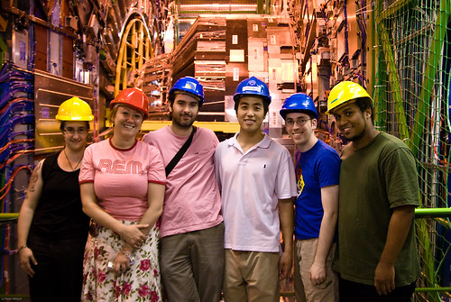 Cornell students and postdocs at CERN