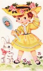 yellow hat girl (lorryx3) Tags: bunny yellow mirror maryjanes strawhat