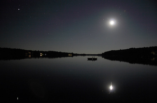 Still Water with Moon, Planet and Stars