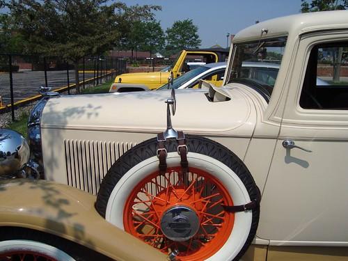 1931 Plym Spare Tire/Rear View Mirror