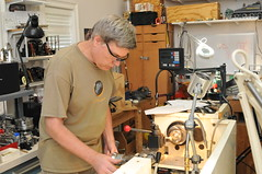 Ed Hume turning the sand dome (edhume3) Tags: craft brass metalworking lathe sanddome climaxlocomotivemodel d309647