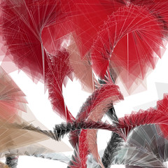 red.wire (mark knol) Tags: red white abstract motion art lines wire flash generative processing fractal fractals generated actionscript knol generativeart markknol