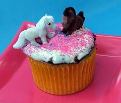 Pony In My Pocket Martha Stewart Strawberry Birthday Cupcakes (cupcakequeen) Tags: cupcakes baking strawberries marthastewart