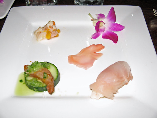 """A trio of variations on  the theme of Poke and Sashimi"""