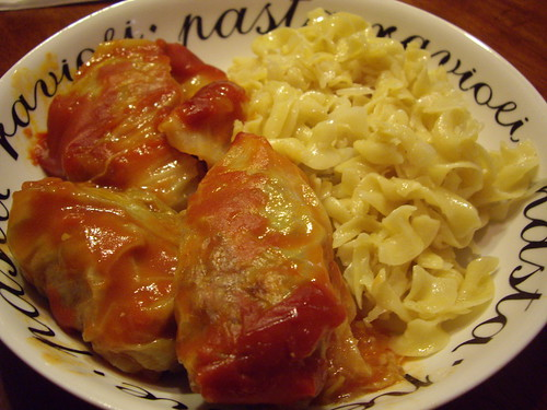 Stuffed Cabbage Rolls and Halushka