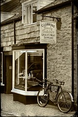Old Fashioned Values (Sean Bolton (no longer active)) Tags: bike shop wales antique cymru butcher hayonwye powys bycycle seanbolton ffotocymrucouk