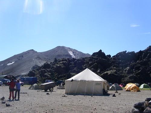 Campingplatz am Lavafeld