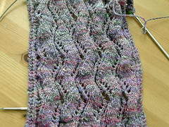 Ribbon lace scarf detail