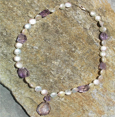Amethysts are Fabulous Necklace & Earring Set