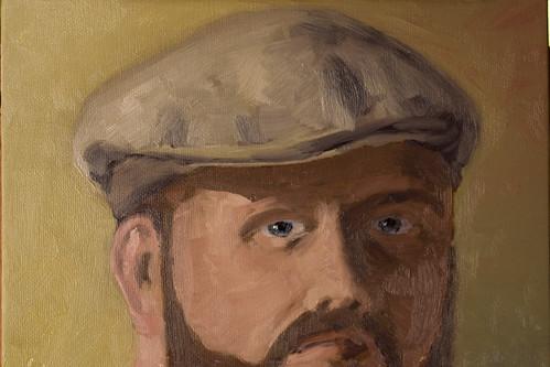 self portrait in oil