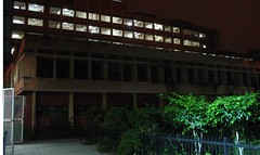 The wards at night