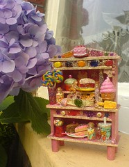 Crazy Candy Cabinet 4 (Rainbow Mermaid) Tags: pink house cute cake glitter miniature doll dolls candy cabinet handmade craft kitsch ornament icecream sweets hutch dolly lollipop dresser dollhouse rainbowmermaid