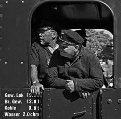 The dream job of every schoolboy (xollob58) Tags: blackandwhite germany deutschland tram darmstadt traindriver steamtrain dampflok dreamjob traumberuf lokfhrer feuerigerelias atworkcompetitionwinner