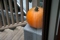 pumpkin by the door